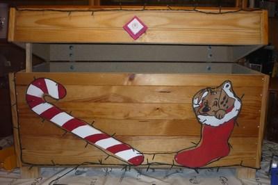 2013 : Coffre du Père-Noël réalisé par mon mari