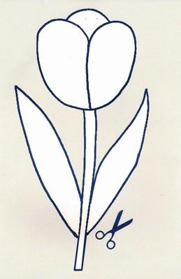 papier tulipe à imprimer