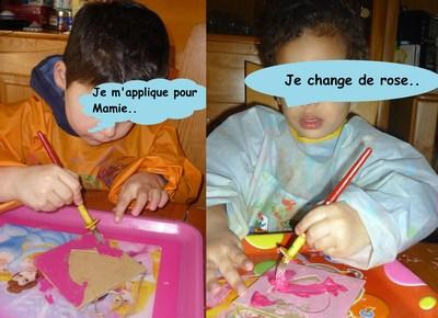 Mini mamie peinture