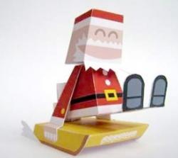 Père-Noël sur traîneau